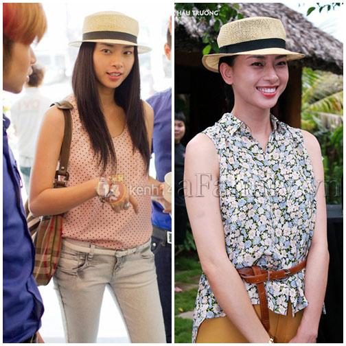 Cùng sao Việt chọn mũ cho chuyến du lịch hè 10