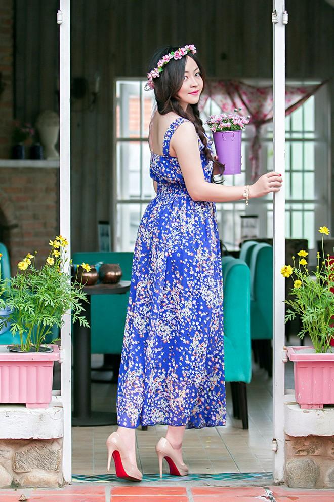 Váy maxi sắc màu lãng mạn cho bạn gái mùa thu 11