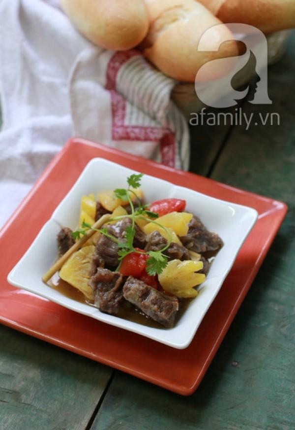 Bò kho dứa chua ngọt mềm thơm 9