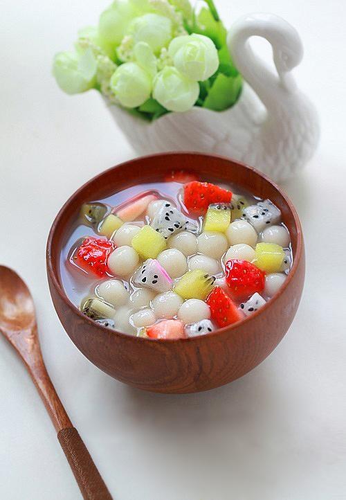 Tự làm chè hoa quả trân châu 2