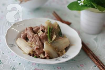 Bò xào cải thảo ngọt giòn ngon cơm 10