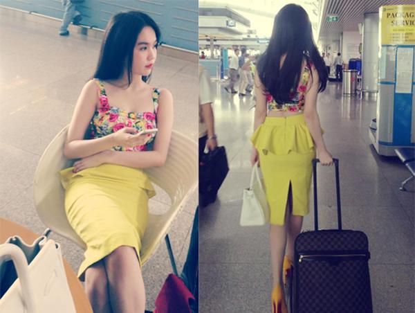 Hút mắt với thời trang sân bay của Ngọc Trinh 4