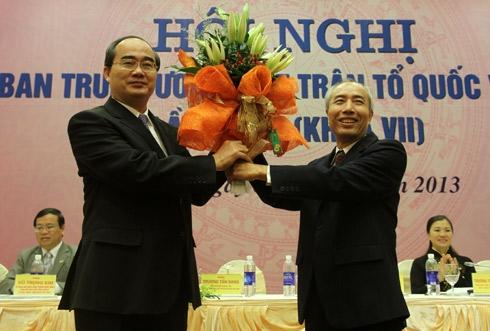 Phó thủ tướng Nguyễn Thiện Nhân làm Chủ tịch Mặt trận Tổ quốc 1