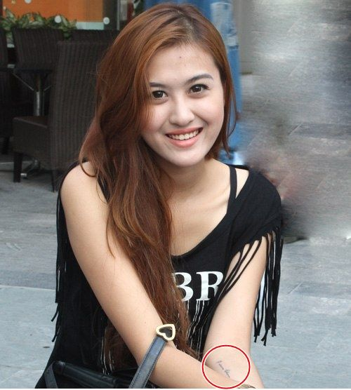 Những hot girl Hà Thành nghiện xăm hình nhất 5