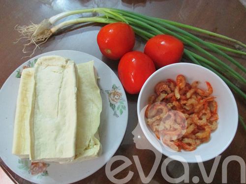 Đậu sốt cà chua tôm nõn cho bữa tối 1
