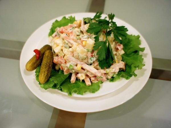 Cách làm salad Nga vị dứa tuyệt thơm 1