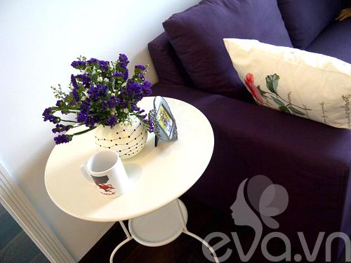 Ngắm căn hộ 80m² màu tím kiêu sa 4