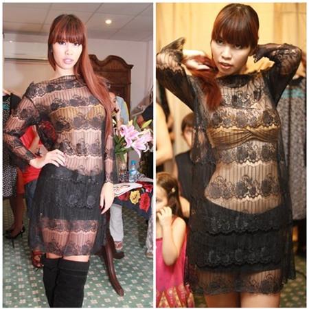 Sao Việt quyến rũ với váy suông 16