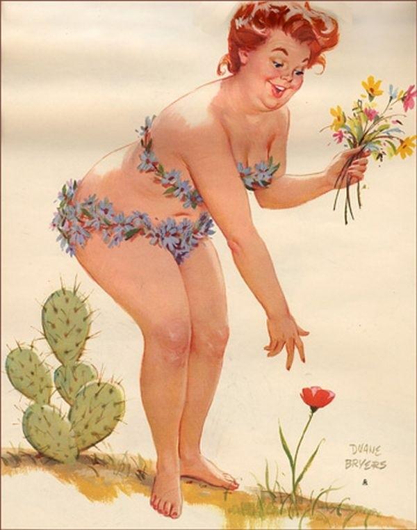 """Cư dân mạng thích thú với bộ tranh vẽ nàng béo """"sexy"""" Hilda 9"""