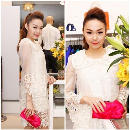 Sao Việt quyến rũ với váy suông 19