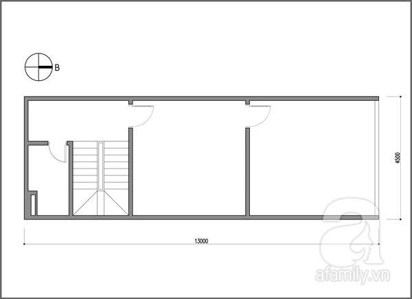 Cải tạo phòng 60 m² cho vợ chồng trẻ 1