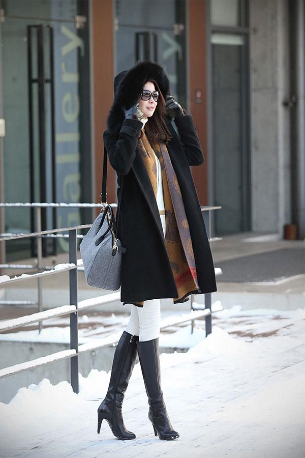 Áo cổ lông - món đồ không thể chối từ ngày đông 24