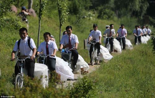 Độc đáo 16 cặp đôi tổ chức đón dâu bằng xe đạp 2