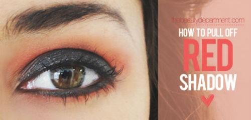 Trang điểm mắt cuốn hút với tông màu đỏ 6