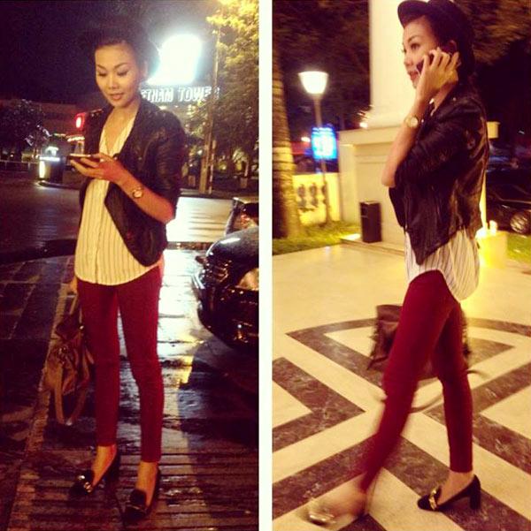 Thanh Hằng mặc jeans sành điệu 12