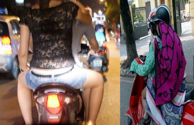 Nóng, con gái Hà Nội mặc xuyên thấu về đêm 1