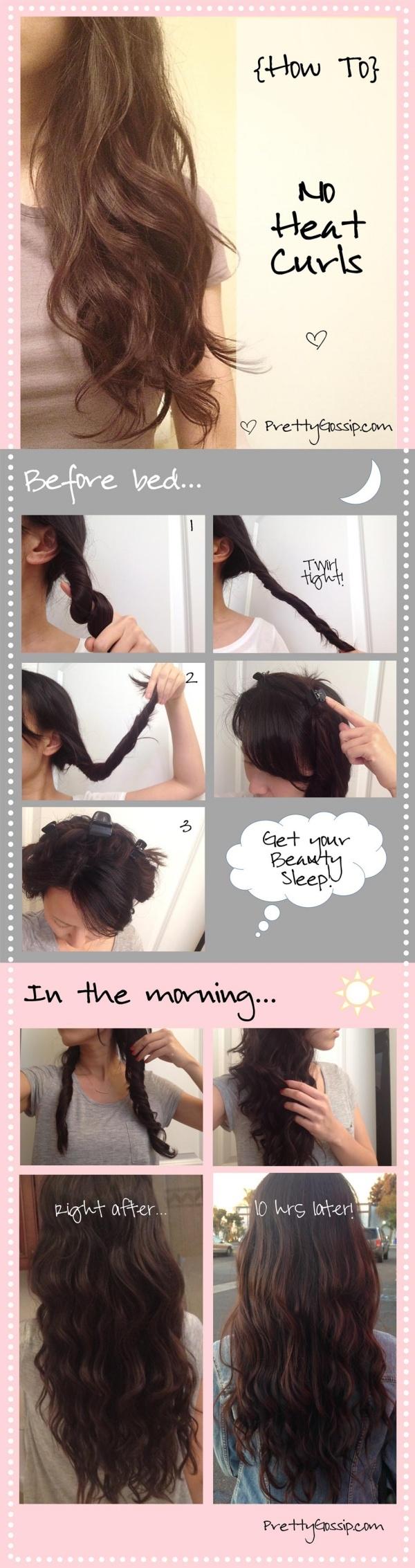 Cách làm tóc xoăn đơn giản không cần nhiệt 1