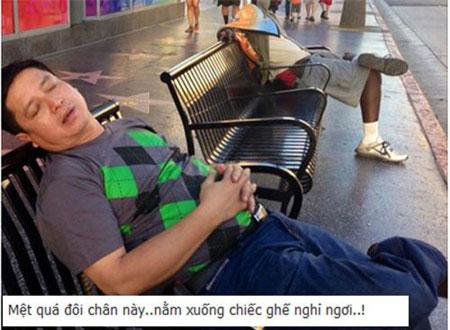 Tư thế ngủ gật hài hước của sao Việt 12