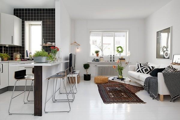 Ghé căn hộ 41m² trắng sáng mà không đơn điệu 8