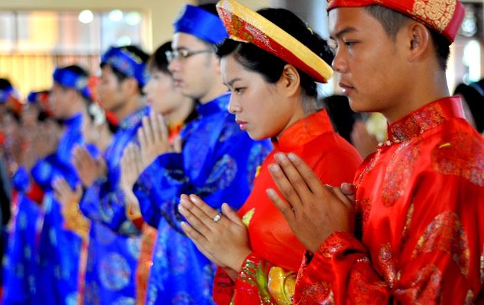 Hà Nội: Kết hôn tập thể theo nghi thức Phật giáo cho 14 đôi tân duyên 5