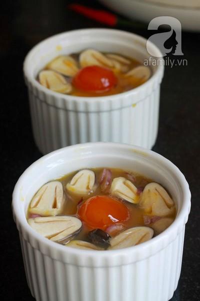 Lạ miệng ngon cơm với nấm hấp trứng muối 9