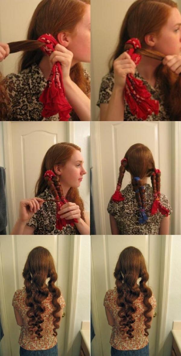 Cách làm tóc xoăn đơn giản không cần nhiệt 2