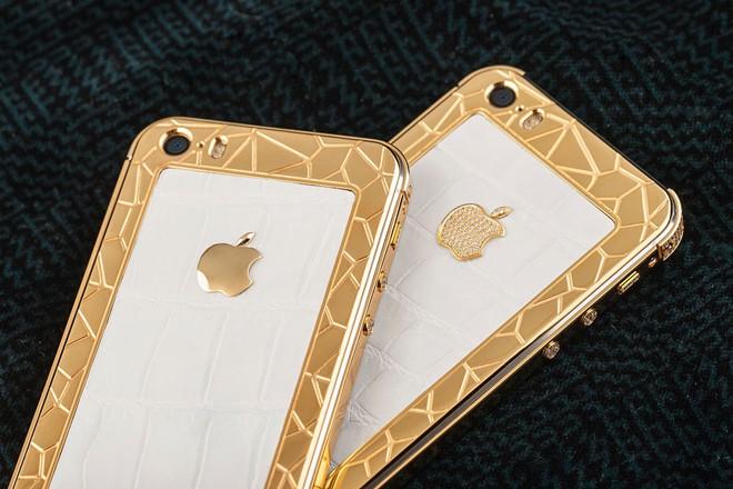 iPhone 5S mạ vàng bọc da cá sấu giá 35 triệu ở VN 3