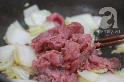 Bò xào cải thảo ngọt giòn ngon cơm 7