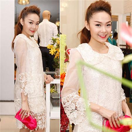 Ngắm phong cách thời trang ngọt ngào của Minh Hằng 3