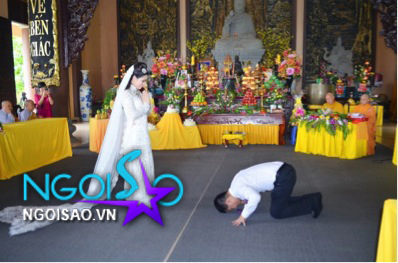 Lễ cưới theo nghi thức Phật giáo của ca sỹ Mỹ Dung 11