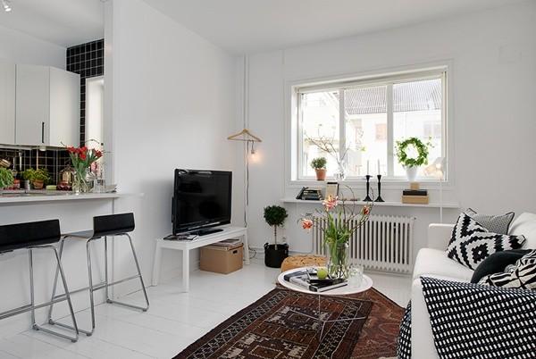 Ghé căn hộ 41m² trắng sáng mà không đơn điệu 5