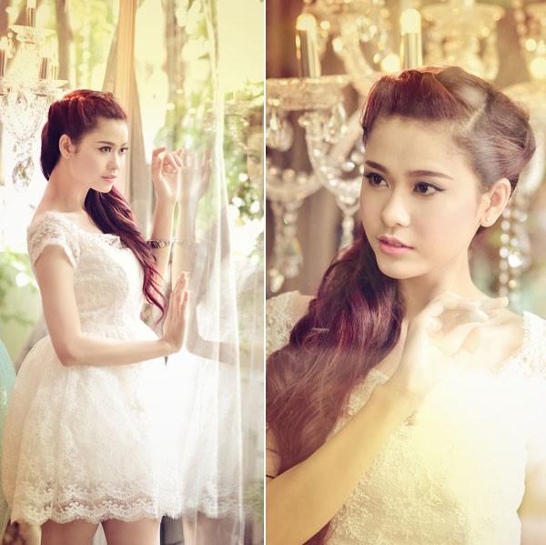 Kiều nữ Việt đẹp mong manh váy trắng 12
