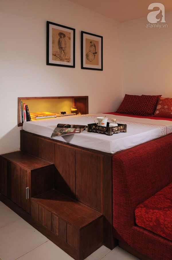 Ngắm căn hộ 22m² sử dụng đồ gỗ tái chế cực chất tại Phú Nhuận 6