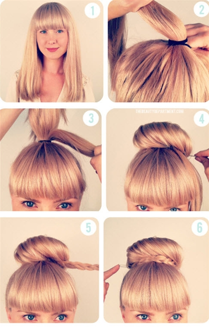 Những kiểu tóc búi đơn giản nhưng đẹp đến lạ kì 2