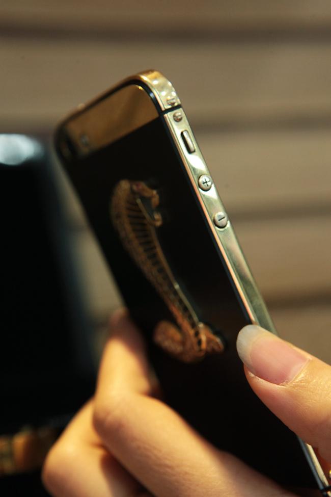 Ngắm iPhone 5 đúc vàng, khảm rắn giá 290 triệu ở VN 2