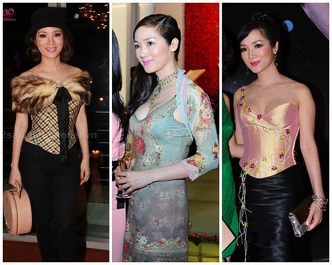 """Thời trang lạ mắt của các người đẹp """"lớn tuổi"""" showbiz Việt 9"""
