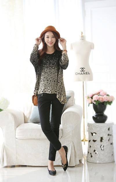 Điệu đà với mốt áo len nữ Hàn Quốc mùa thu 10