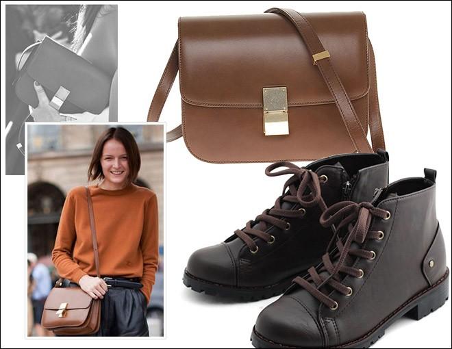 Cách phối đồ hoàn hảo giữa giày và túi 2
