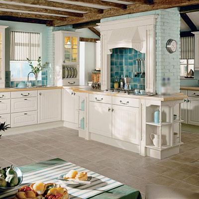 Nhà bếp trang nhã với sắc màu kem 10