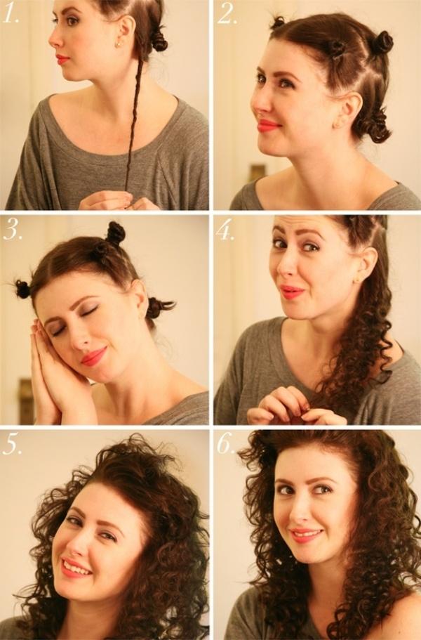 Cách làm tóc xoăn đơn giản không cần nhiệt 3