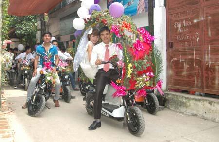 Hà Nội: Thú vị đám rước dâu bằng... xe đạp 6