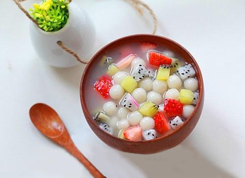 Tự làm chè hoa quả trân châu 1