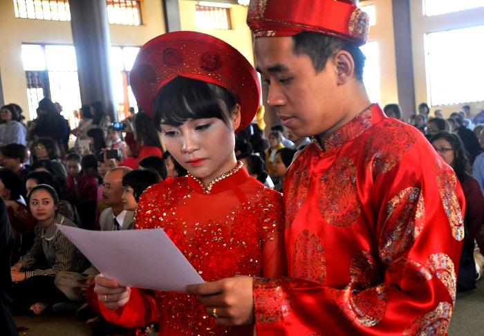 Hà Nội: Kết hôn tập thể theo nghi thức Phật giáo cho 14 đôi tân duyên 8