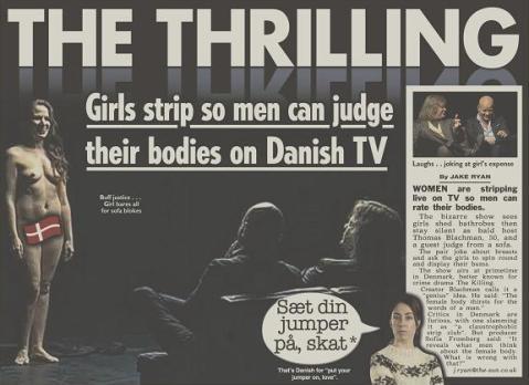 Đem phụ nữ khỏa thân ra cho nam giới bình luận, một show truyền hình bị la ó 1