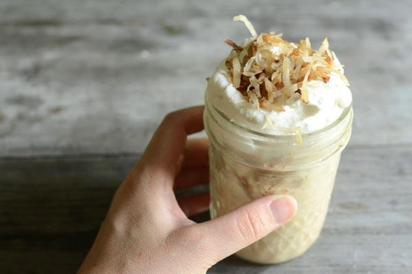 Tự làm kem cà phê dừa nạo mát lịm người 13