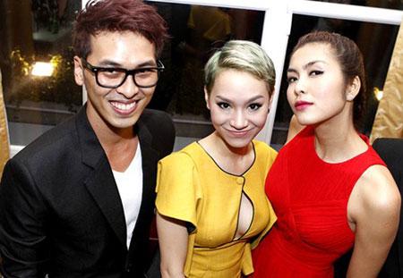 Vợ chồng Hà Tăng vui vẻ đến dự sinh nhật của Trà My Idol 9