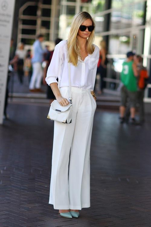 Phối đồ nổi bật cùng 4 kiểu quần trắng phổ biến cho nàng công sở 3