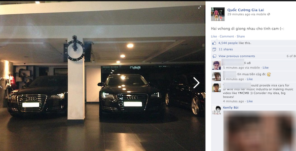 Cường Đôla bất ngờ khoe cặp xe Audi của hai vợ chồng 1