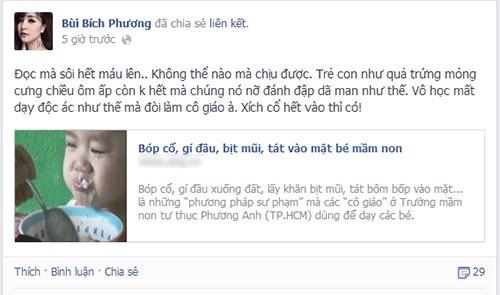 Sao Việt phẫn nộ vụ bảo mẫu bạo hành trẻ 9