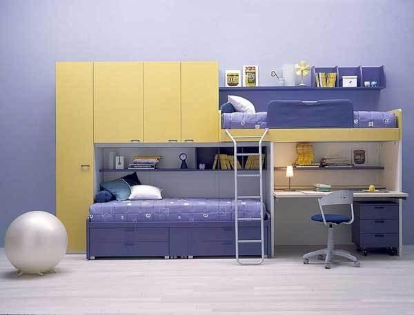 Cách bố trí giường riêng cho hai con trong cùng một phòng 2